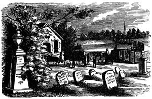 image free Graveyard clipart black and white. Vintage halloween clip art
