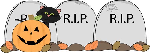 banner library Halloween . Graveyard clipart grave yard
