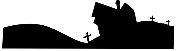 svg black and white download Silhouette clip art at. Graveyard clipart night