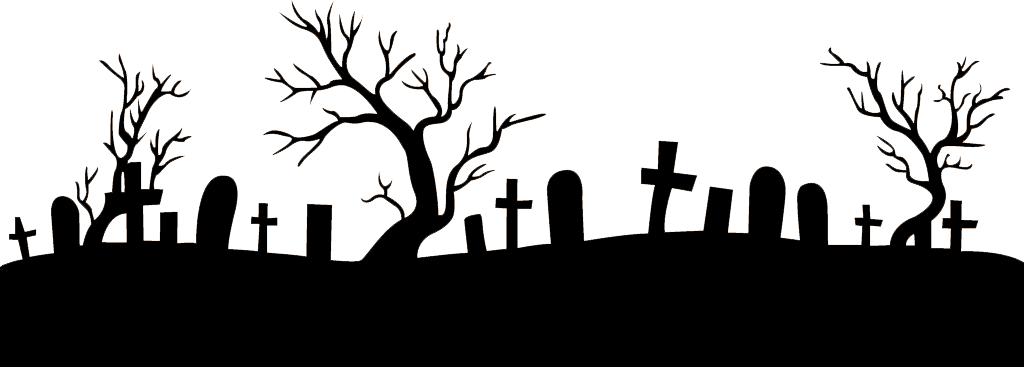 vector royalty free Footer png stickpng. Graveyard clipart transparent
