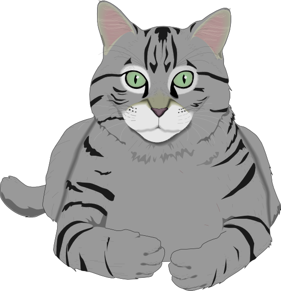 clip library download Grey Cat Clipart