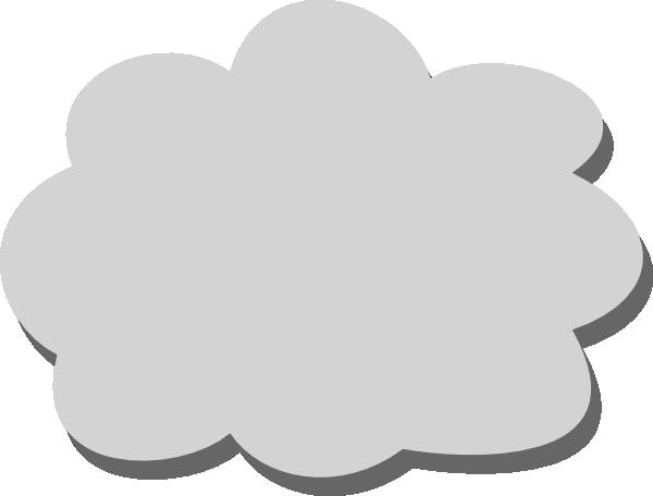 clip transparent Gray Cloud Clip Art at Clker
