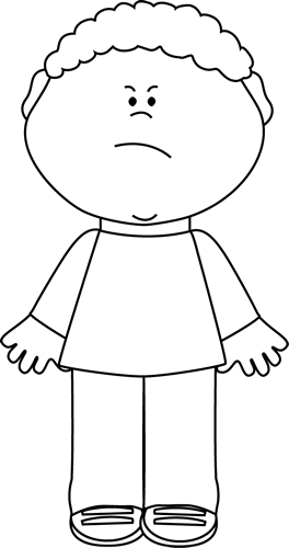 vector royalty free library Angry boy lots of. Sweater clipart black and white