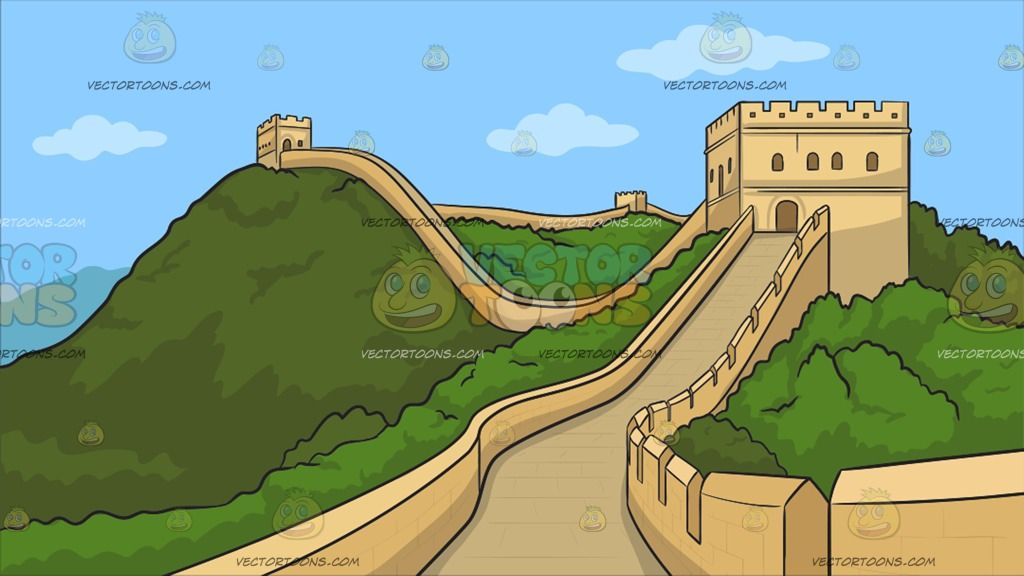 jpg library stock Great wall of china clipart. The background a massive.