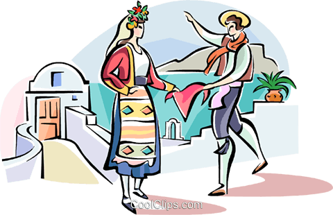 black and white library Greece Clipart greek dancing