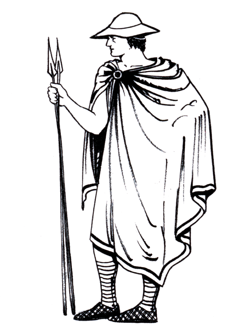 banner library Chlamys ancient greece clothes