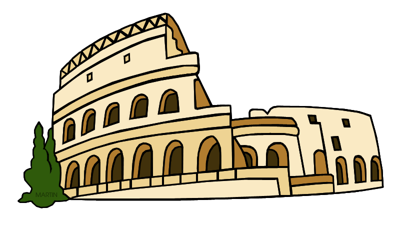 png black and white Rome transparent free . Greece clipart roman city
