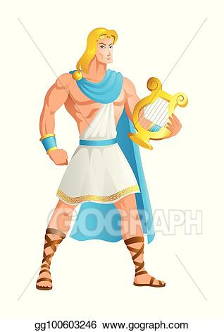 clipart freeuse library Greek clipart apollo god. Vector the of music