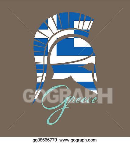 clip royalty free Greek clipart battle helmet. Vector art ancient drawing