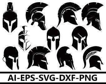 png black and white download Svg etsy . Greek clipart battle helmet