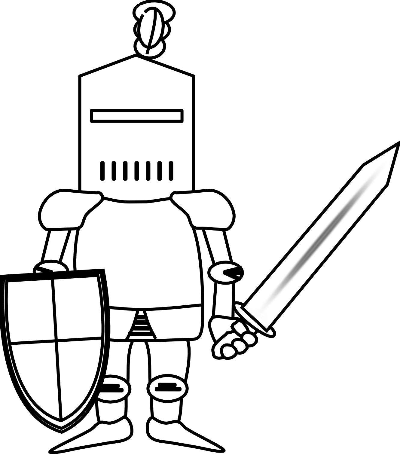 clip free download Knight black and white. Knights clipart guerrero.