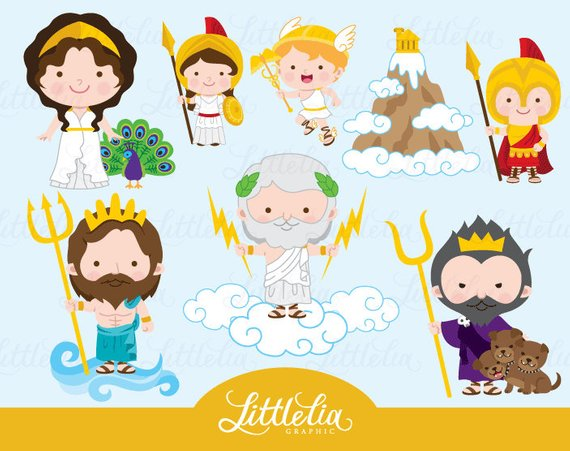 black and white stock Greek clipart mythology greek. Gods products in