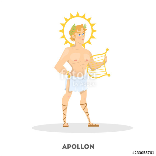 clip art free library Greek vector character. Apollon ancient god greece