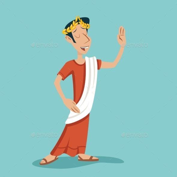 image free Roman retro vintage businessman. Greek vector character