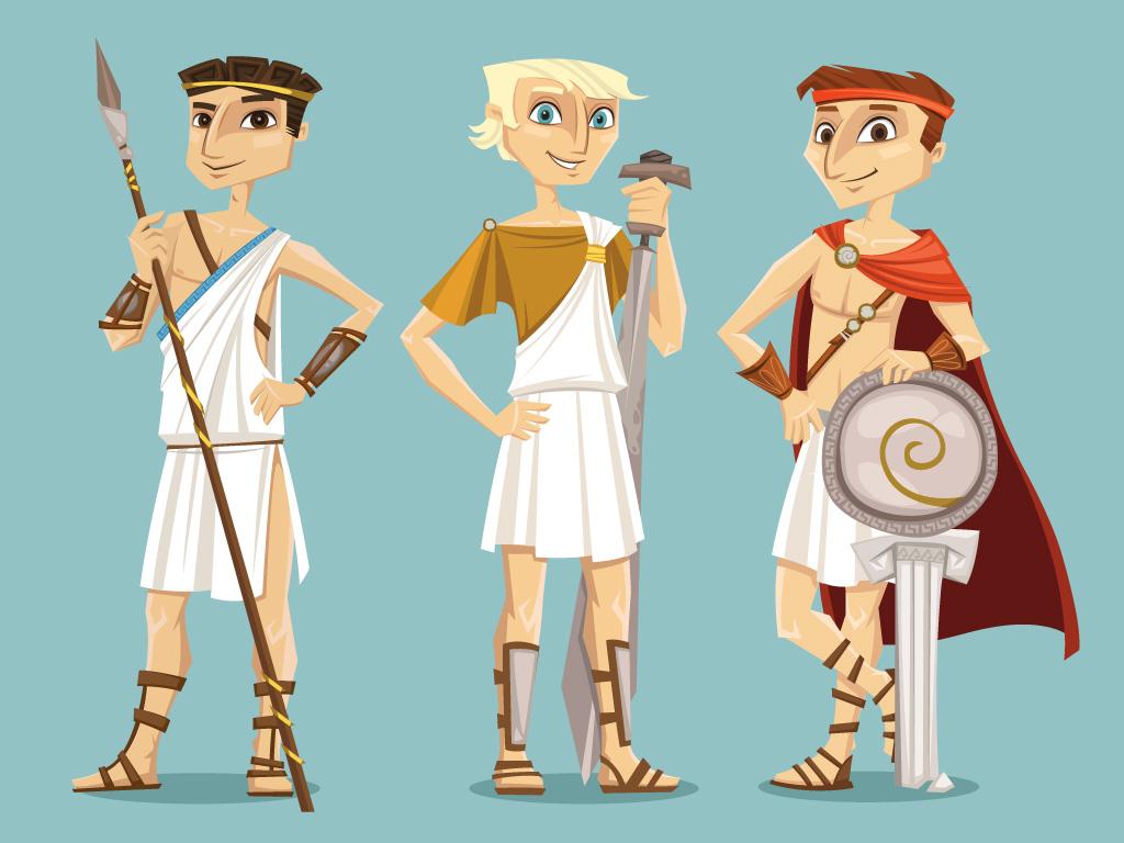 vector transparent Characters boys mirjami manninen. Greek vector character