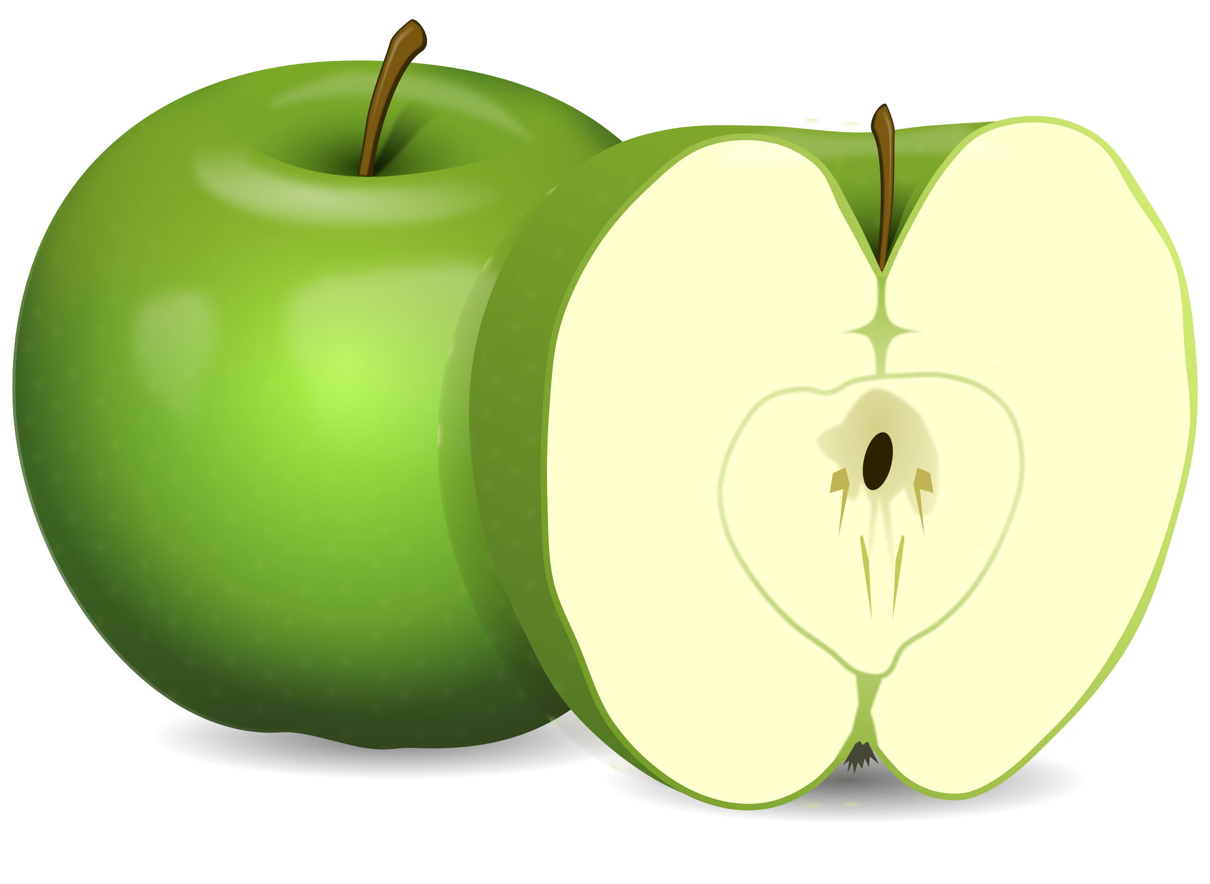 transparent download Big image png. Green apples clipart.