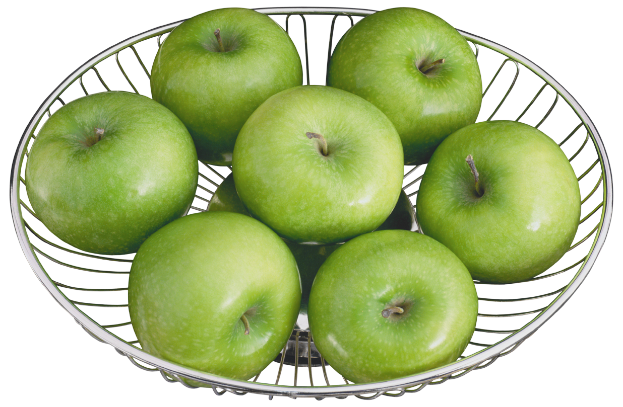 banner black and white stock In a metal bowl. Green apples clipart.