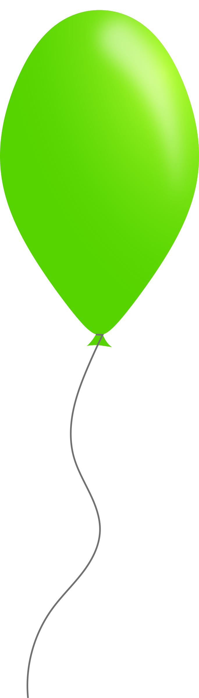 graphic freeuse stock Big image png. Green balloon clipart