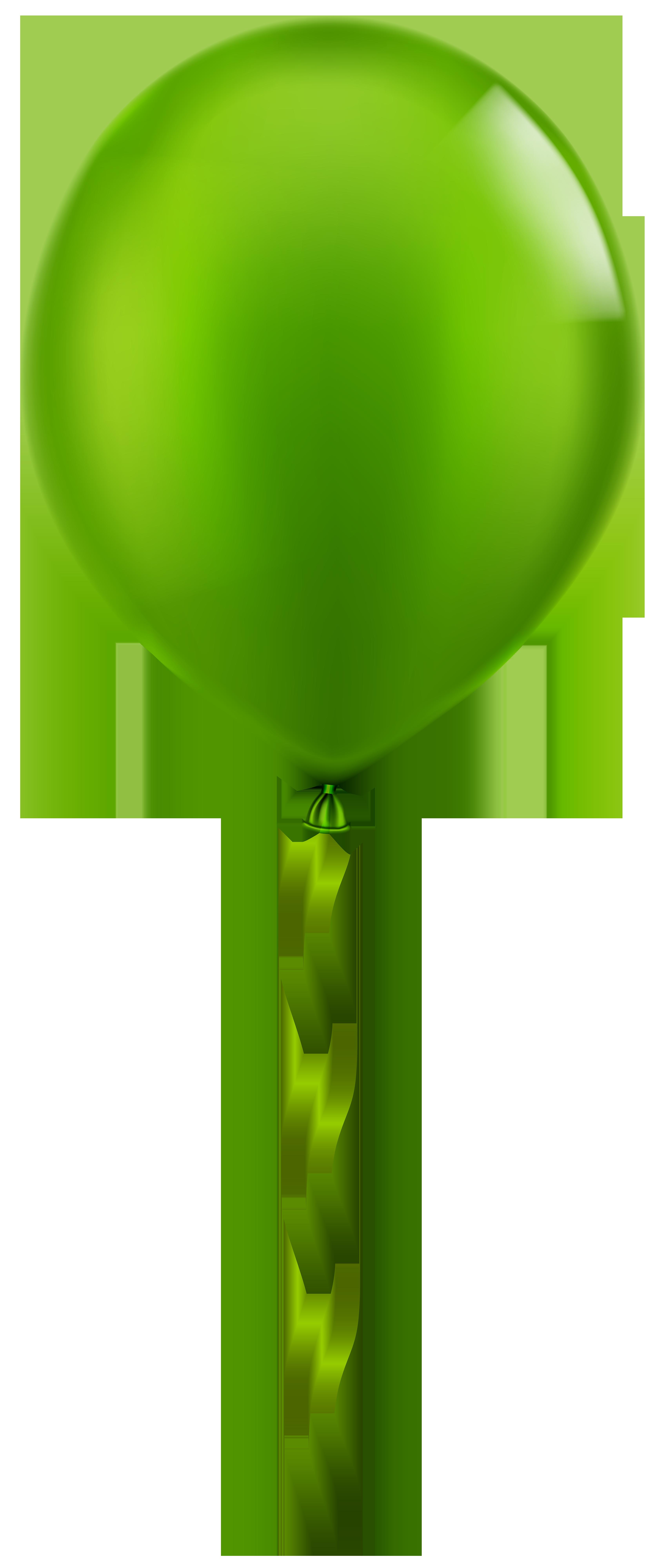 clipart Single png clip art. Green balloon clipart