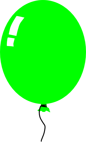 picture freeuse library Green balloon clipart. Clip art at clker