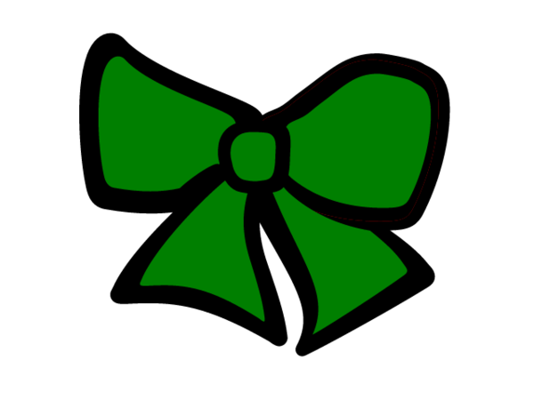 banner library Green Cheer Bow