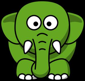 clipart library library Green clipart. Elephant clip art panda