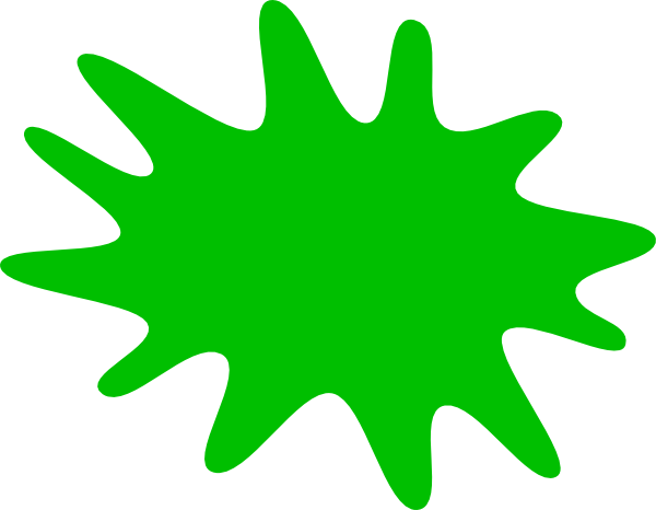 graphic freeuse stock Paint splat clip art. Green clipart