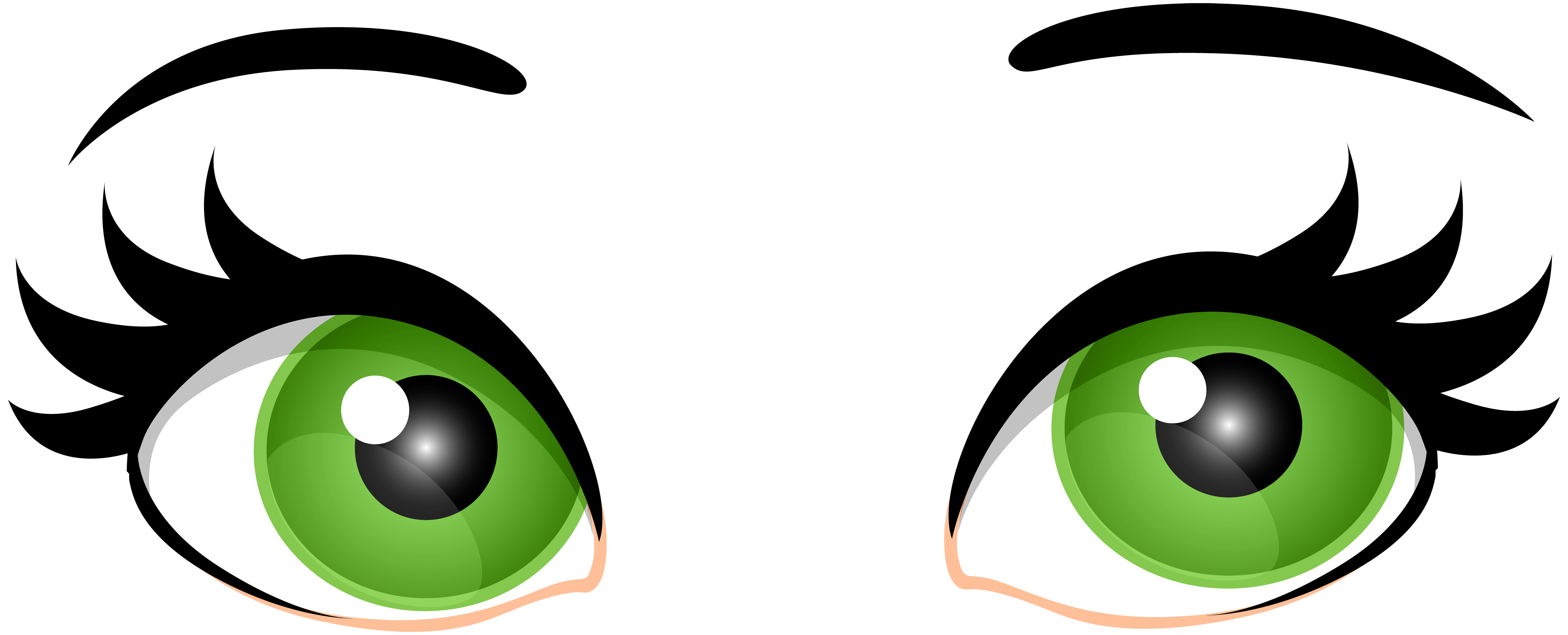 graphic transparent download Green clipart. Female eyes png clip.