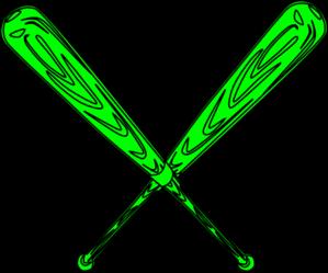 banner transparent library Svg clip art at. Green clipart baseball bat