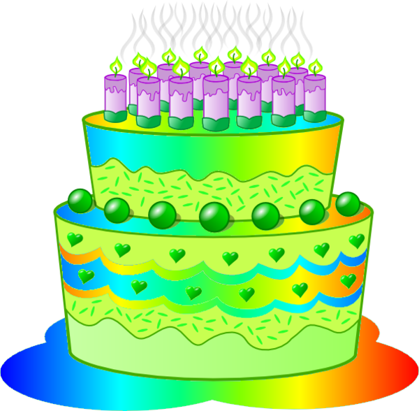 transparent Green clipart birthday cake. E free images at