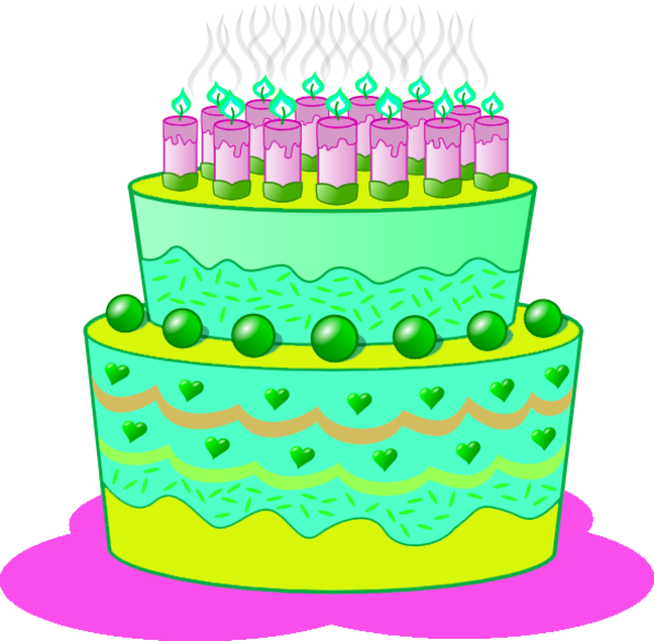 svg free A free images at. Green clipart birthday cake