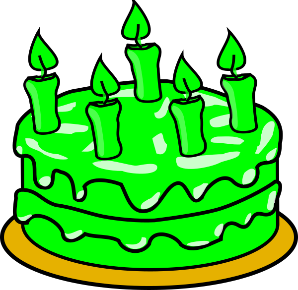 image royalty free library Green clipart birthday cake. Clip art at clker