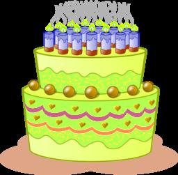 banner stock I royalty free public. Green clipart birthday cake