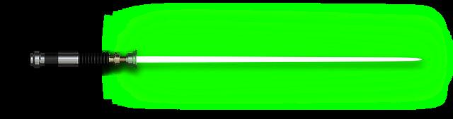 image Popular and trending lightsaber. Green clipart light saber