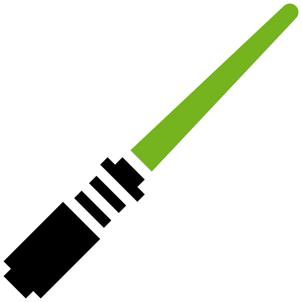 clipart freeuse download Lightsaber Green Icon