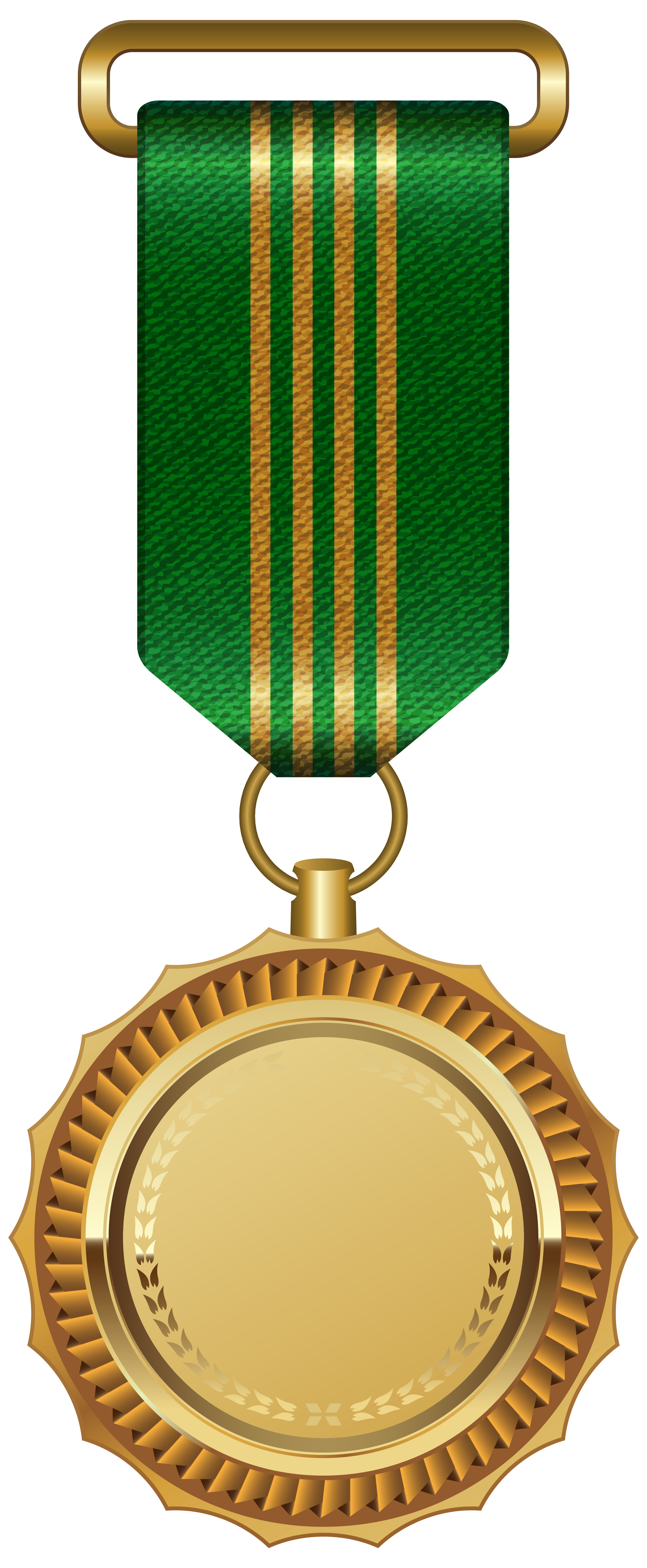 vector black and white stock Green clipart medal. Gold with ribbon png