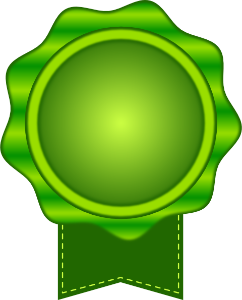 vector freeuse stock Green clipart medal. Seal simple clip art