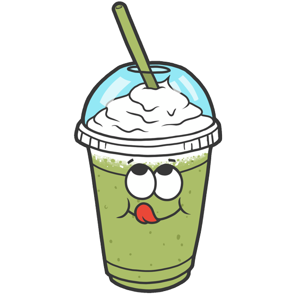 clip art black and white download Green clipart milkshake. Super cool emoji stickers