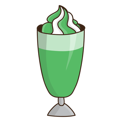 image transparent stock Chocolate e de creme. Green clipart milkshake