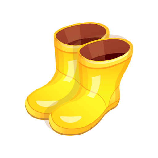 graphic Yellow boots icon free. Green clipart rain boot