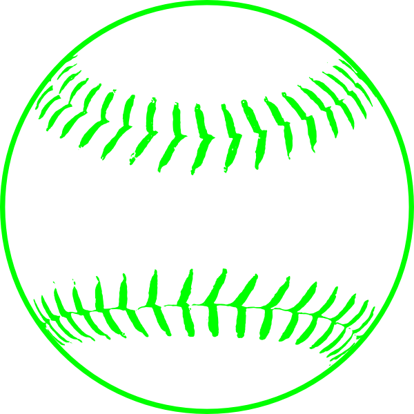 clipart library library Green clipart softball. Clip art at clker