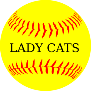 graphic transparent stock Lady Cats Yellow Softball Clip Art at Clker