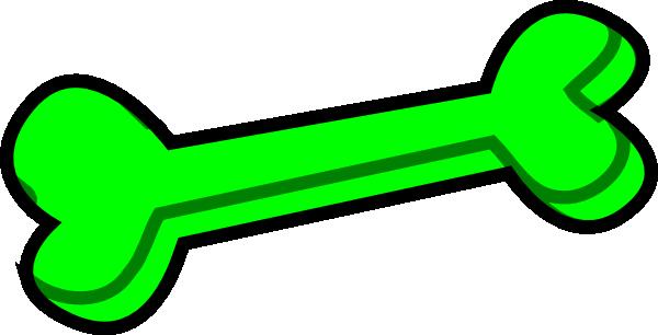 clipart royalty free library Bones vector animated. Dog bone green clip