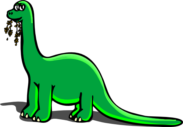 clipart transparent library Green Dinosaur Clipart