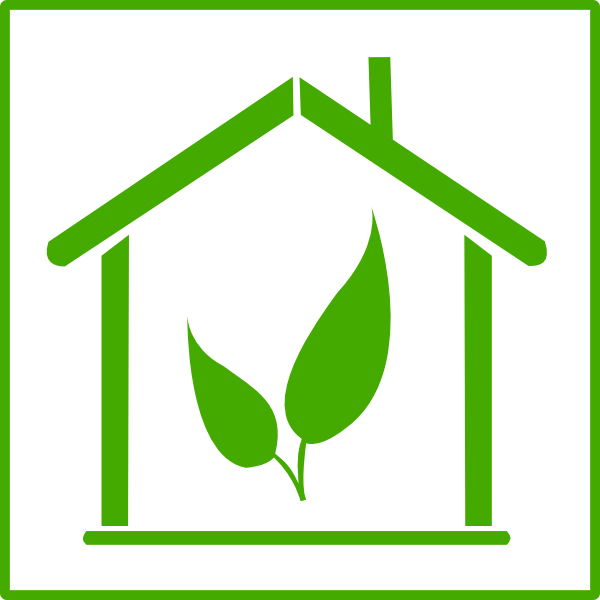 free Green House Energy Icon Clip Art at Clker