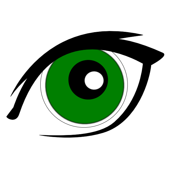 graphic transparent library Green Eyes Clip Art at Clker