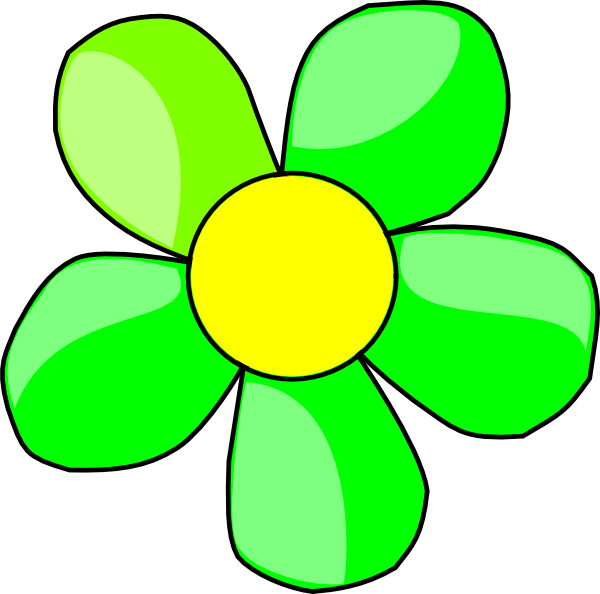 png royalty free stock Lime Green Flower Clipart