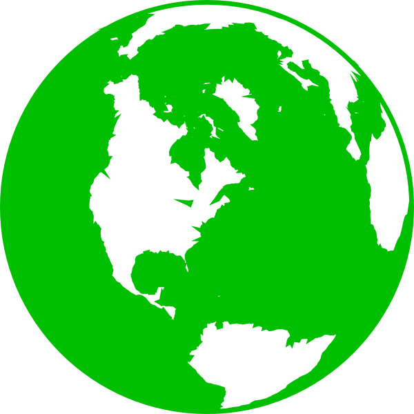 png freeuse download Dark green clip art. Vector contains globe