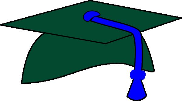svg free library Green Graduation Cap Blue Tassel Clip Art at Clker
