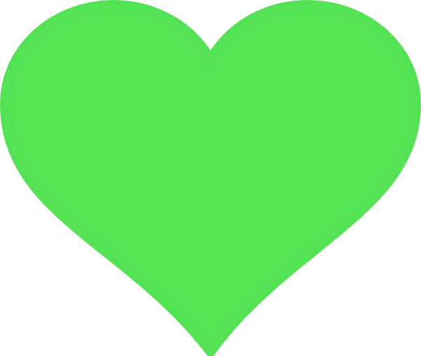 png transparent library Green Heart Clip Art at Clker